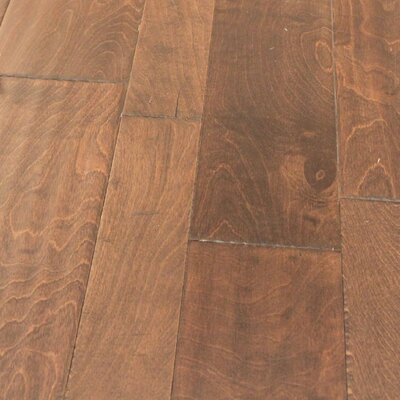 Random Width Engineered Birch Hardwood Flooring in Tango