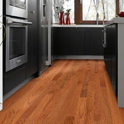 Paradise Random Width Solid Oak Hardwood Flooring in Green Meadow