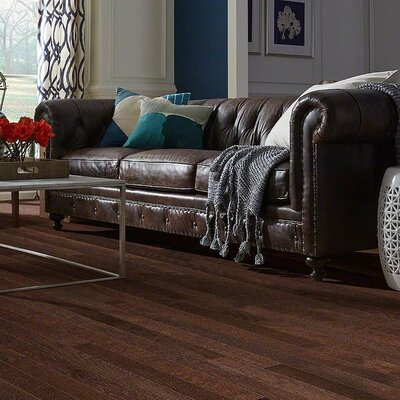 Paradise Random Width Solid Oak Hardwood Flooring in Cool Breeze