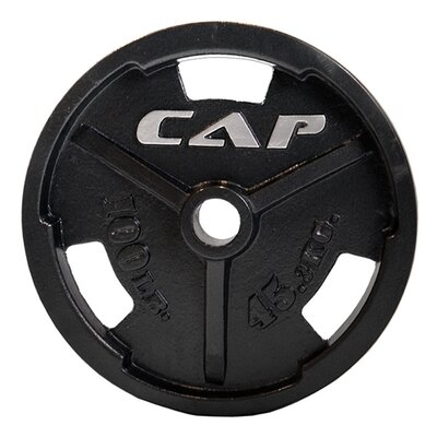 "2"" Black Commercial Grip Plate Weight: 10 lbs"