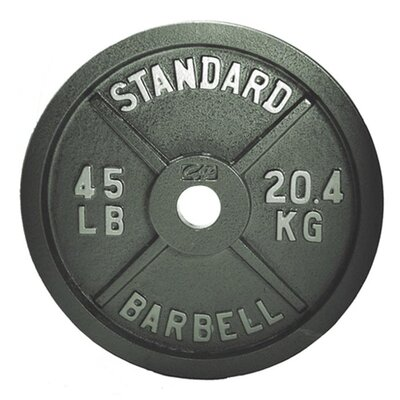 "2"" Grey Plate Weight: 45 lbs"