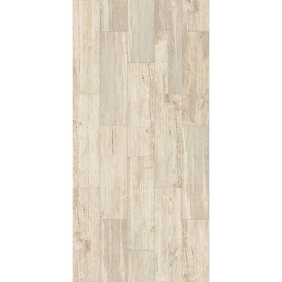 Tampico 7 x 24 Ceramic Wood Look Tile in Cream