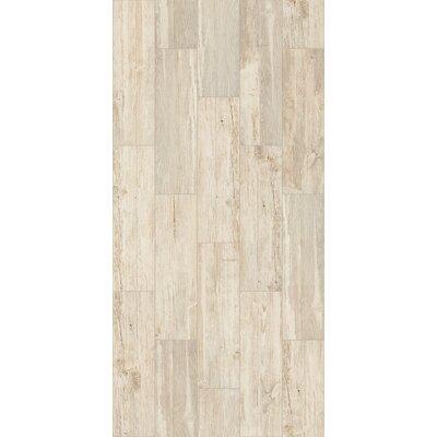 Tampico 7 x 24 Ceramic Wood Look Tile in Cream