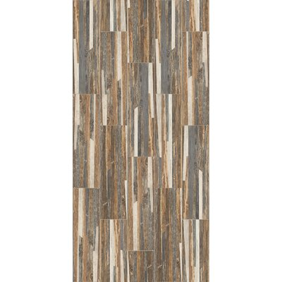 Tampico 7 x 24 Ceramic Wood Look Tile in Brown/Gray
