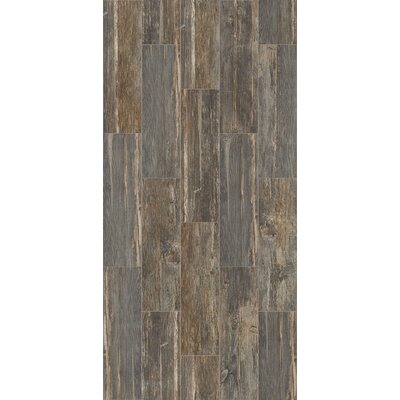 Tampico 7 x 24 Ceramic Wood Look Tile in Gray