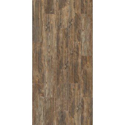 Tampico 7 x 24 Ceramic Wood Look Tile in Dark Brown