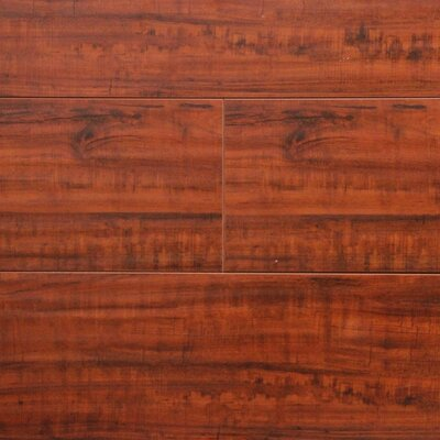 7 x 48 x 12.3mm Laminate Flooring in Rosewood (Set of 22)