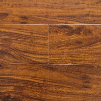 6 x 48 x 12.3mm Laminate Flooring in Golden Walnut (Set of 22)