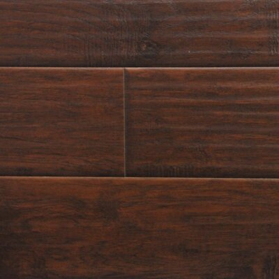 6 x 48 x 12.3mm  Laminate Flooring in Midnight Hickory (Set of 22)