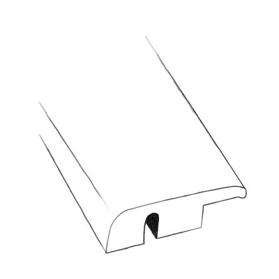 0.48 x 1.5 x 96 Nightfall Hickory End Molding in Smooth