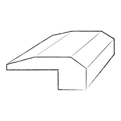 0.48 x 2 x 96 Natural Oak Stair Nose in Smooth
