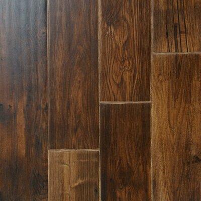 Zachery 7 x 48 x 12.3mm Laminate Plank in Walnut