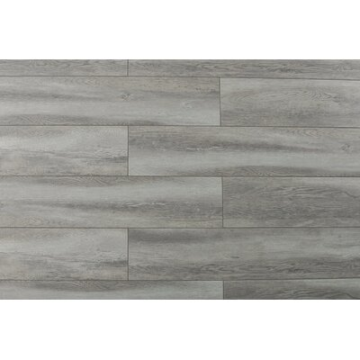 Abdiel Rama 7.72 x 47.83 x 12.3mm Laminate Flooring in Gray Silver