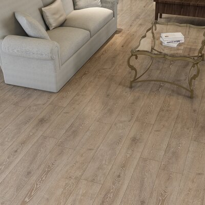 Augustus 7.71 x 72.83 x 12mm Oak Laminate Flooring in Simply Taupe