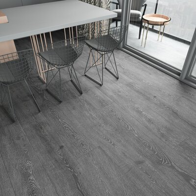 Augustus 7.71 x 72.83 x 12mm Oak Laminate Flooring in Smokey Gray