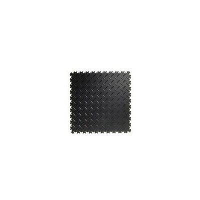 Diamond Plast Floor Tile In Black Set Of 4