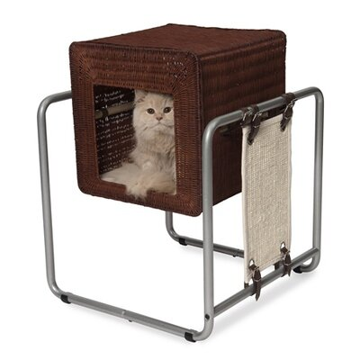 21 Rattan Mayhall Cube Cat Tree