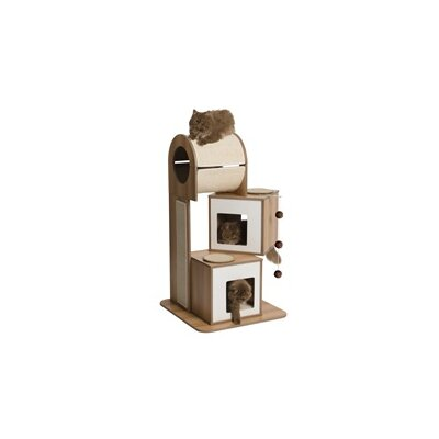 46 Hillcrest Tower Cat Tree Color: Walnut