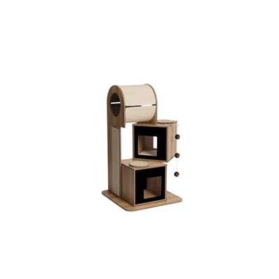 46 Vesper Tower Cat Tree Color: Black