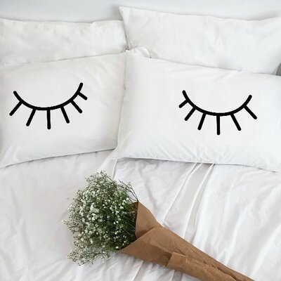 2 Piece Eyelashes Pillowcase Set