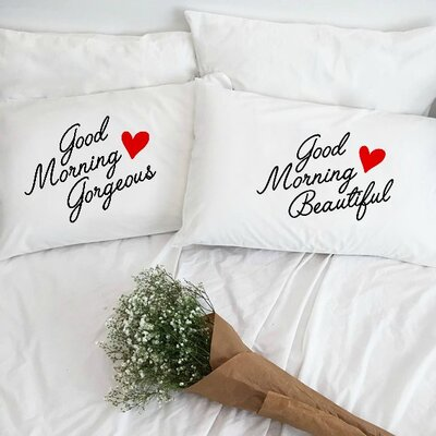 Good Morning Gorgeous and Good Morning Beautiful Pillowcases (Set of 2)