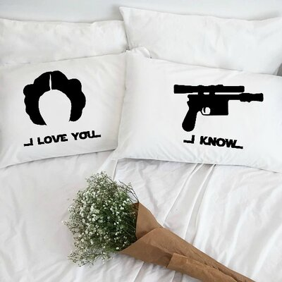 I Love You and I Know Pillowcases (Set of 2)
