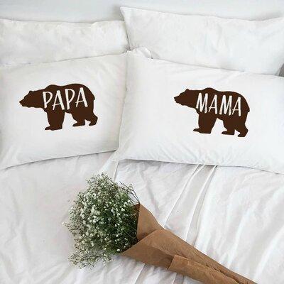 Papa Bear and Mama Bear Pillowcases (Set of 2)