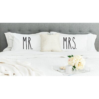 Mr and Mrs Pillowcases (Set of 2)