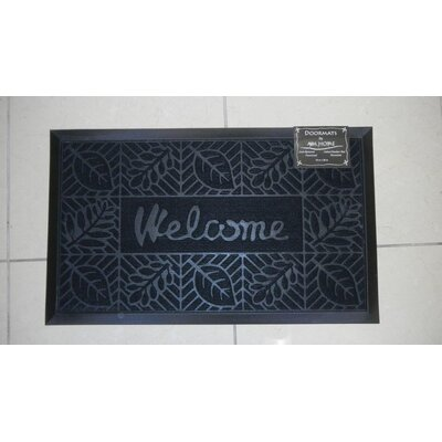 Welcome Doormat Color: Black