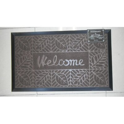 Welcome Doormat Color: Coffee
