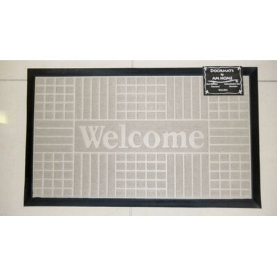 Block Welcome Doormat Color: Beige