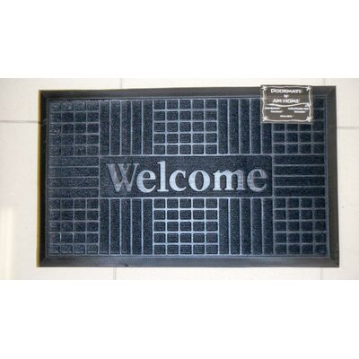 Block Welcome Doormat Color: Black