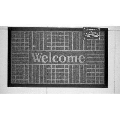 Block Welcome Doormat Color: Coffee