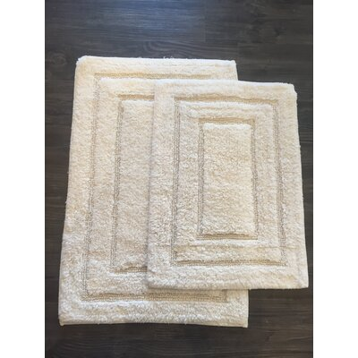 Race Track 2 Piece Bath Mat Set Color: Ivory