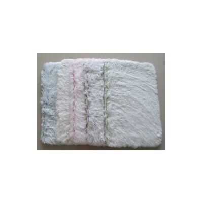 Plush Memory Foam Bath Rug Color: Light Green