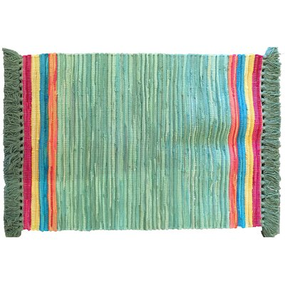 Boxford Hand-Woven Green Indoor Area Rug
