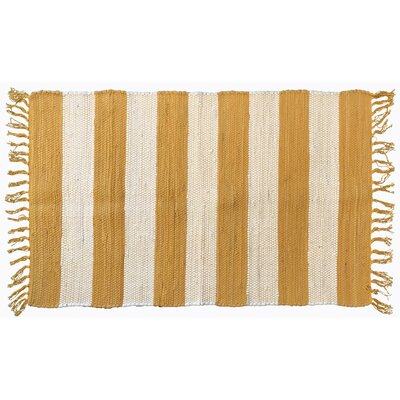 Bruno Stripe Area Rug in Yellow