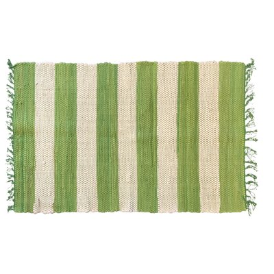 Bruno Stripe Area Rug in Green