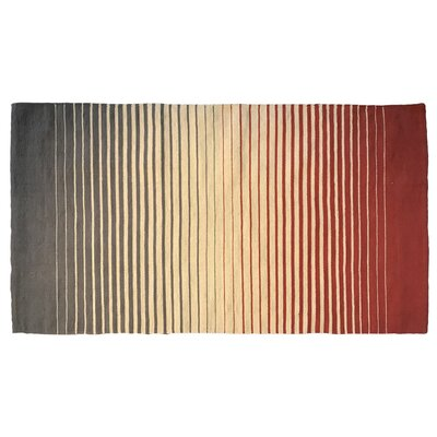 Tara 100% Cotton Striped Fade Rug in Gray
