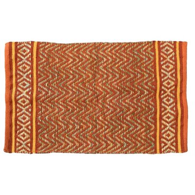 Janeen Handmade Cotton Orange Area Rug