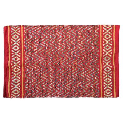 Janeen Handmade Cotton Red Area Rug