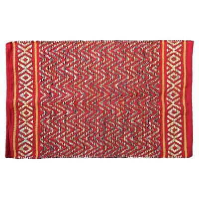 Janeen Handmade Cotton Red Area Rug