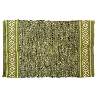 Janeen Handmade Cotton Green Area Rug