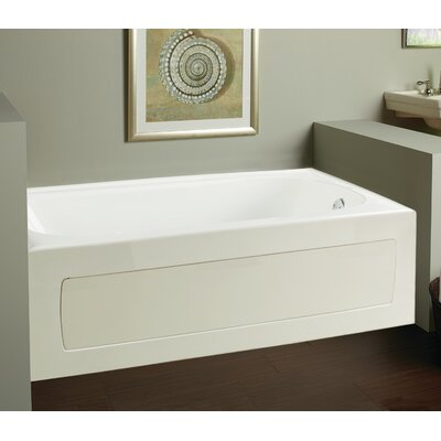 Vision 59.75 x 32 Soaking Bathtub Drain Location: Right