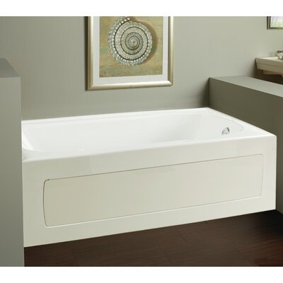 Vision 59.75 x 32 Whirlpool Drain Location: Right