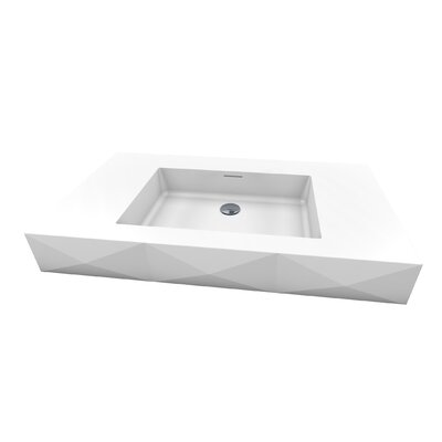 Diamond III 38 Wall Mount Bathroom Sink with Overflow Sink Finish: Satin White