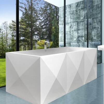 Diamond 33 x 69 Freestanding Soaking Color: Satin White