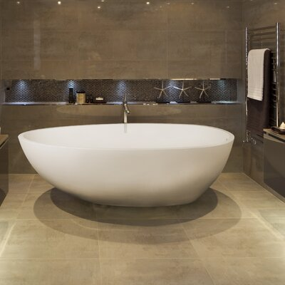 Irideon 71.25 x 38.5 Freestanding Soaking Bathtub Color: Matte White