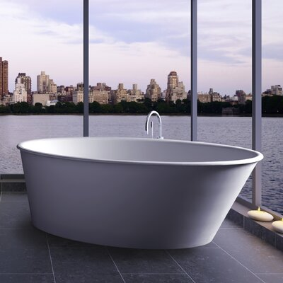 Oval One 58 x 34.75 Freestanding Soaking Bathtub