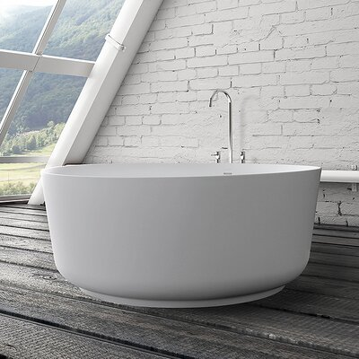 Andaz 51 x 51 Freestanding Soaking Bathtub Color: Satin White